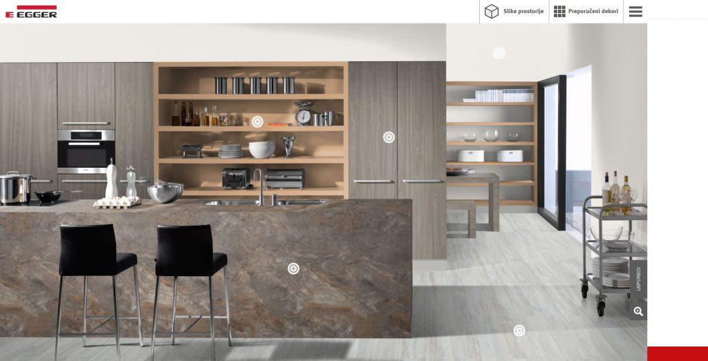 Egger Design Guide - na ponuđene dijelove namještaje moguće je aplicirati dekore po želji