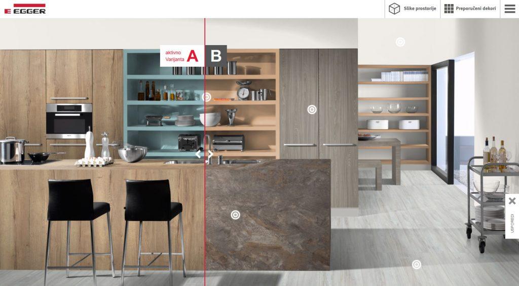 Pri dizajnu može se kreirati A i B varijanta istog interijera